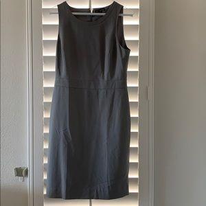 J. Crew mercantile grey knee length dress size 4
